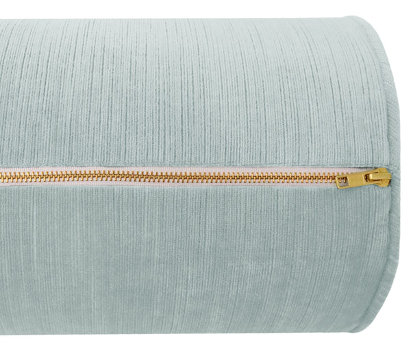The Bolster :: Strie Velvet // Spa Blue BACKORDER