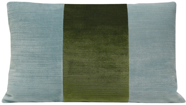 The Little Lumbar :: Strie Velvet // Cerulean Blue + Olive