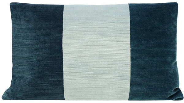 The Little Lumbar :: Strie Velvet // Harbour Blue + Spa Blue BACKORDER