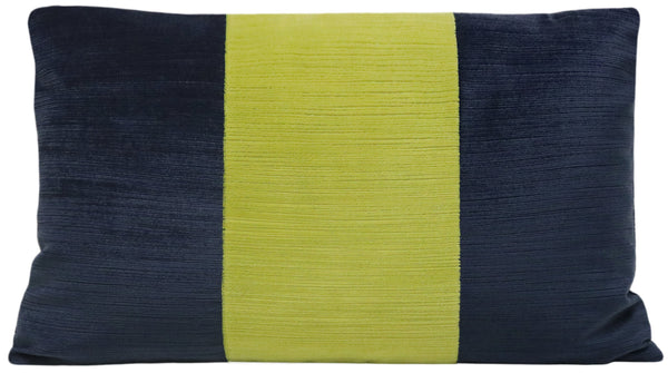 The Little Lumbar :: Strie Velvet // Navy Blue + Citrine