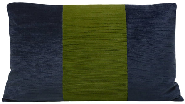 The Little Lumbar :: Strie Velvet // Navy Blue + Peridot BACKORDER
