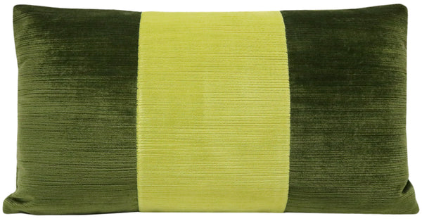 The Little Lumbar :: Strie Velvet // Olive + Citrine