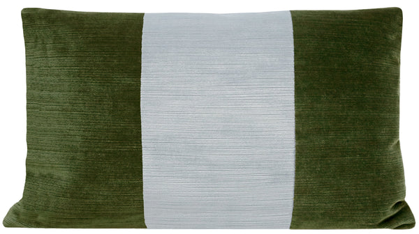 The Little Lumbar :: Strie Velvet // Olive + Mist