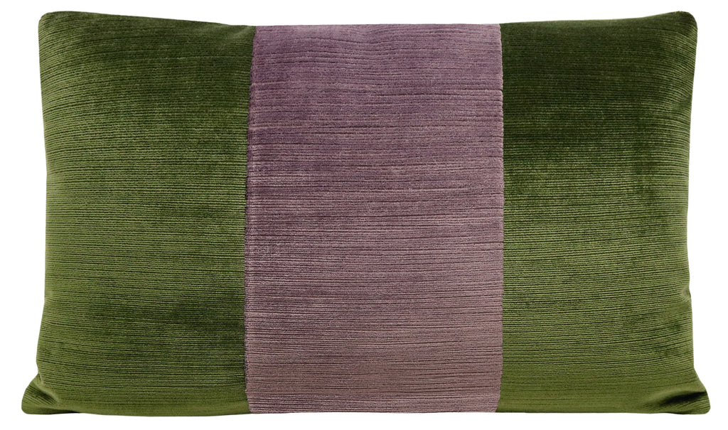 The Little Lumbar :: Strie Velvet // Olive + Smokey Amethyst