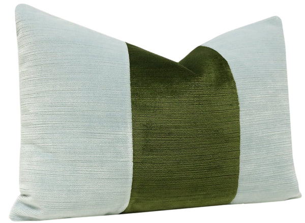 The Little Lumbar :: Strie Velvet // Spa Blue + Olive