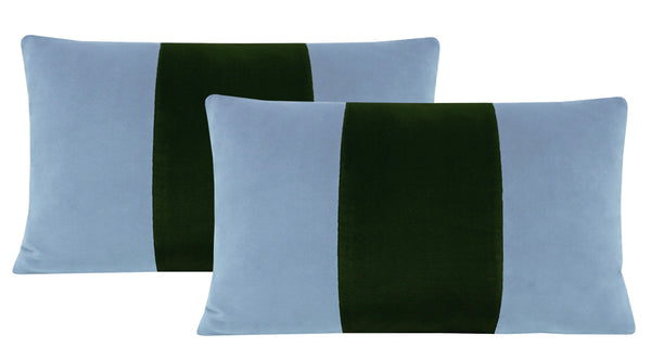The Little Lumbar :: Signature Velvet // Hydrangea Blue + Fern