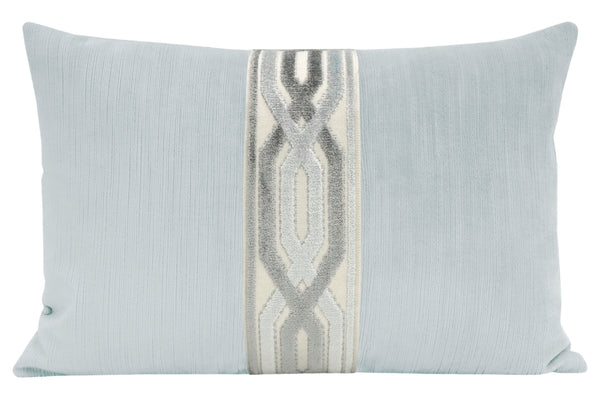 The Little Lumbar :: Strie Velvet // Mist + Interlock Cut Velvet Trim // Mist