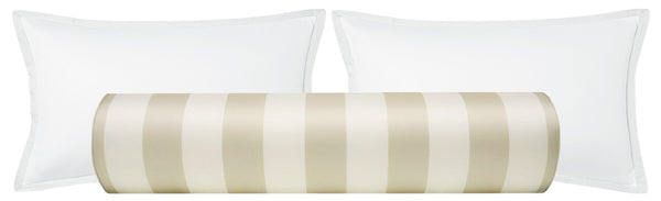 The Bolster :: Windsor Stripe // Alabaster + Bisque