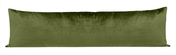 The XL Lumbar :: Faux Silk Velvet // Olive BACKORDER