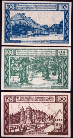 "NEUHAUS a.d. ELBE ""Birthplace of African Colonialist Karl Peters"" Notgeld German"