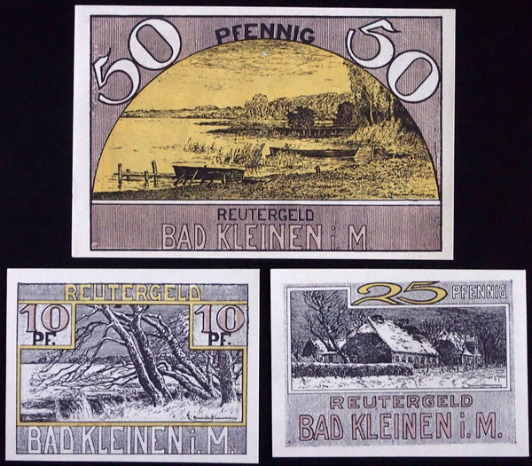 BAD KLEINEN 1922 complete set Germany Notgeld Reutergeld