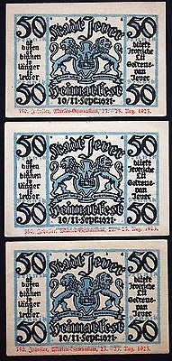JEVER 1923 Uncataloged Overprint!! Marien-Gymnasium 350th Anniv. Notgeld Germany