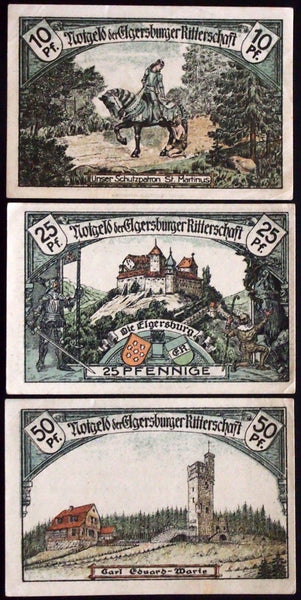 "BAD ELGERSBURG 1921 ""Elgersburg Knights"" complete series German Notgeld"