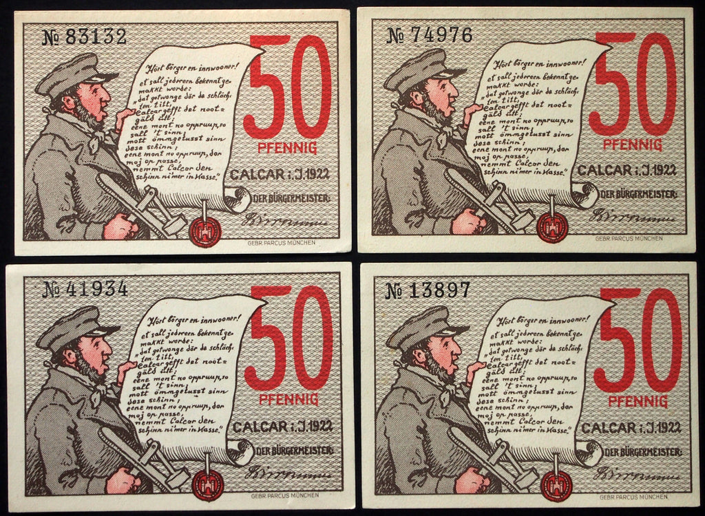"CALCAR 1922 ""Historical Views"" complete series German Notgeld"