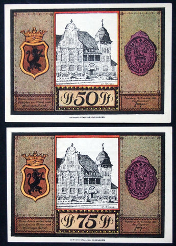 "PAPENBURG 1921 ""Sailing Ships"" complete set Notgeld Germany"