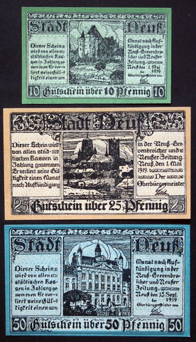 NEUSS 1919 complete set circulating German Notgeld