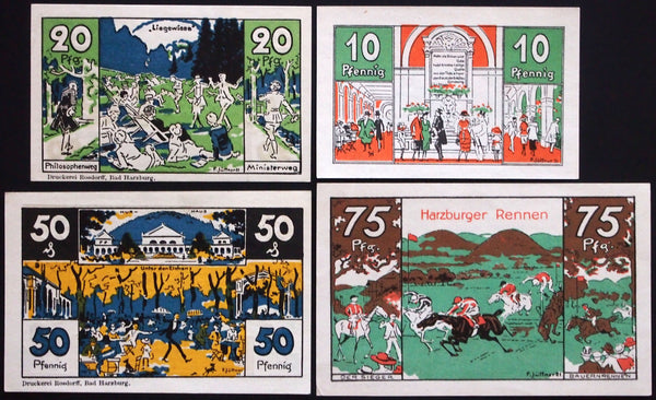 "BAD HARZBURG 1921 ""Nudes, Satyrs, Witches"" complete set Notgeld Germany"