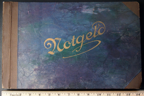 Original old Notgeld Album, empty (not up to modern preservation standards) #13