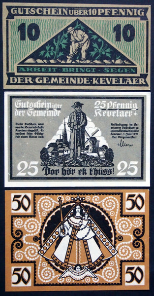 KEVELAER 1921 complete set Notgeld Germany