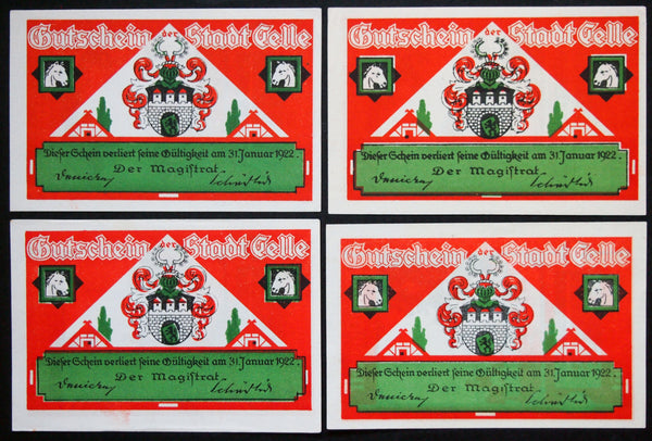 "CELLE 1922 ""Horse Stud Farm"" complete set German Notgeld"