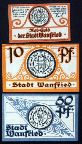WANFRIED 1920 complete set circulating Notgeld Germany