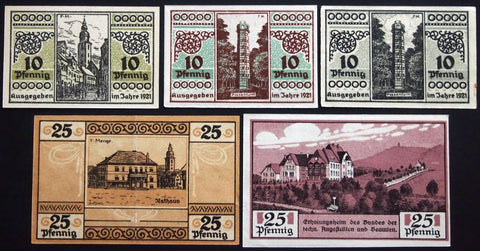 SONDERSHAUSEN 1921 complete series w/ALL variants! German Notgeld