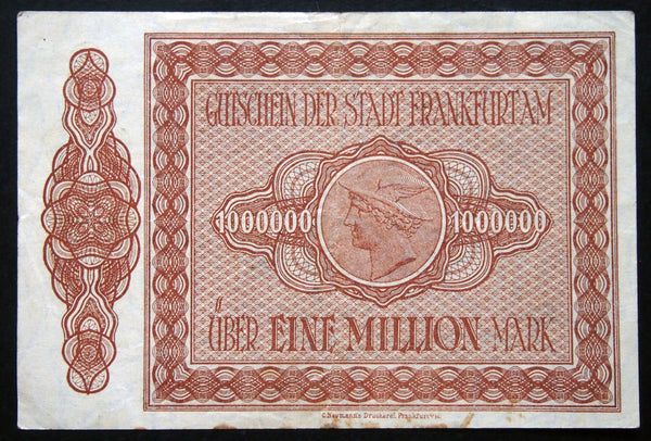 FRANKFURT 1923 1 Million Mark Inflation Notgeld German Notgeld Series B