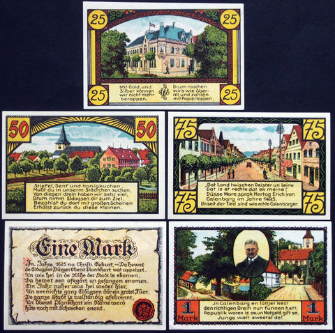 ELDAGSEN 1921 beautiful full-color complete series German Notgeld
