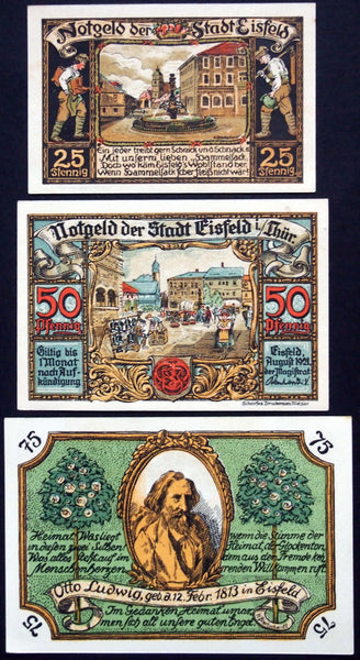 "EISFELD 1921 ""Author Otto Ludwig/Local Industries"" complete German Notgeld"
