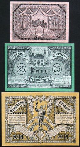 "COCHEM 1921 ""Castle/Rhein Views"" complete series German Notgeld"