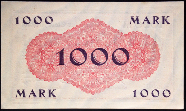 ARNSTADT 1923 1,000 Mark Inflation Notgeld German Banknote