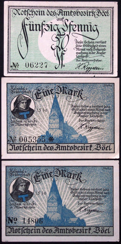 BÖEL 1920 complete series + serial variant German Notgeld