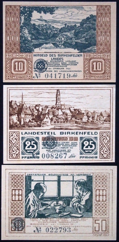 "BIRKENFELD 1921 ""Goldsmiths at Work"" complete set German Notgeld"