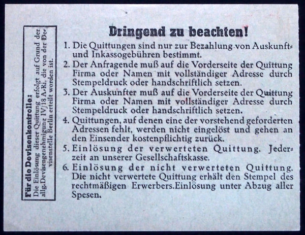 "BERLIN 1947 ""C. Regenhardt"" *RARE* 0.40 RM post-WWII Notgeld Germany"