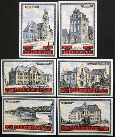 "WITTENBERGE 1921 ""Assoc. for Defense of Trade & Industry"" complete series Notgeld Germany"