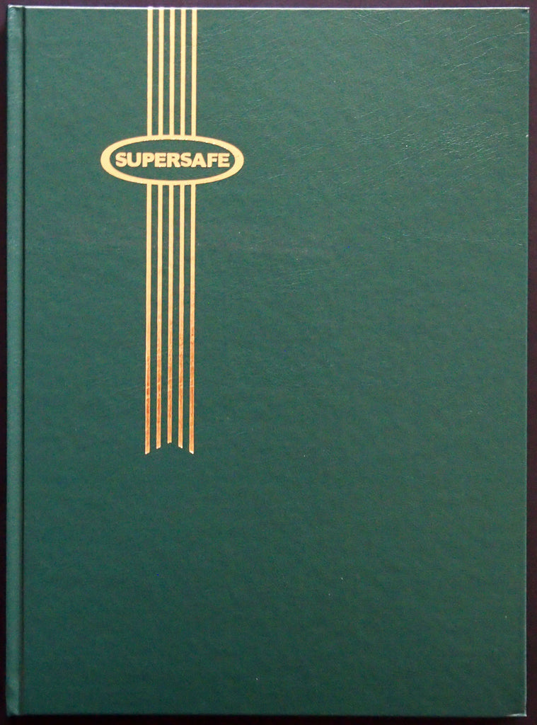 Hardcover Notgeld Album Green 32 Black Pages Clear Rows Supersafe Stockbook 9x12