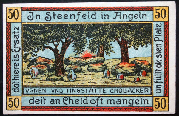 "STEINFELD 1920 ""Urns"" complete set of one German Notgeld"