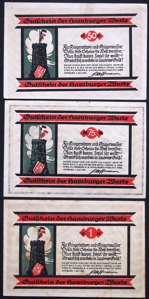 "HAMBURG 1921 ""For War Widows and Orphans"" WWI Aid Organization German Notgeld"