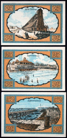 "KOLBERG 1921 ""City Views"" Notgeld Germany (today Kolobrzeg, Poland)"
