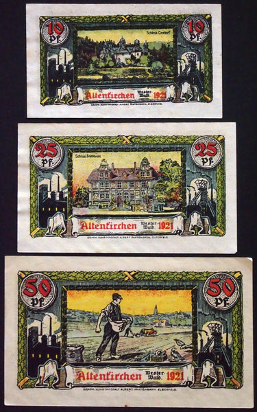 "ALTENKIRCHEN 1921 ""Sower Motif"" complete series German Notgeld"