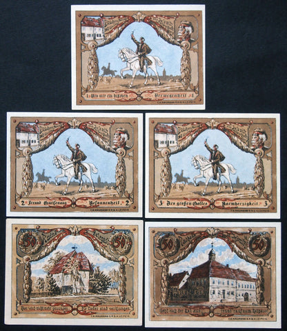 "JESSNITZ 1921 rare complete series with ""Glück Auf"" instead of serials! German Notgeld"