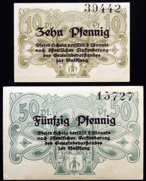 BAD RASTENBERG 1917 complete set circulating Notgeld Germany