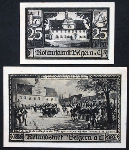 "BELGERN 1921 ""Frederick the Great, 7 Years War"" complete set German Notgeld"