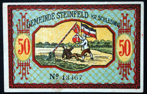 "STEINFELD 1920 ""Plebiscite Fight"" complete set of one German Notgeld Denmark"