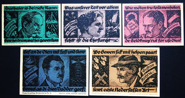 "HANNOVER 1922 ""Assistance for the Elderly"" complete series Germany Notgeld"