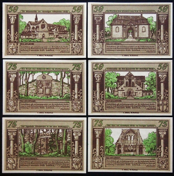"HEISTERBACH 1921 ""The Monk of Heisterbach"" rare complete series Notgeld Germany"