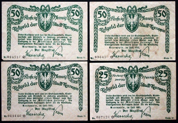NEURUPPIN 1921 interesting art, tough to find complete set Germany Notgeld