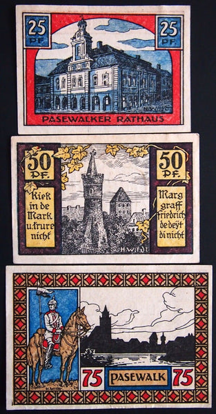 PASEWALK 1921 rare complete set Notgeld Germany