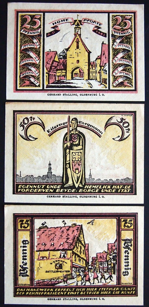 QUAKENBRÜCK 1921 complete set Germany Notgeld
