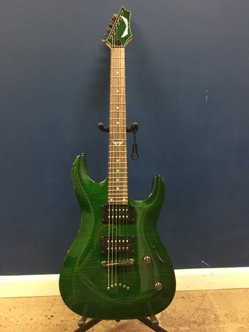 Dean Custom 350 -Trans Green Electric Guitar